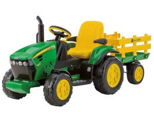Kindertraktor mit Motor Peg Perego John Deere Ground Force inkl. Anhänger