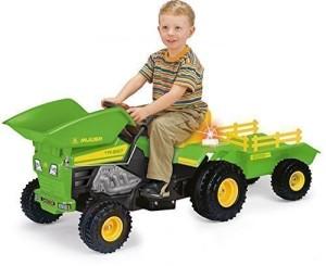 Kindertraktor mit Motor Injusa Dump Trac Tractor mit Anhänger 6 V