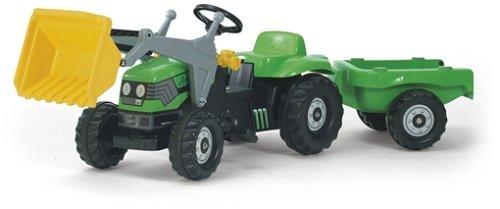 FS-023196-Deutz-Tret-Traktor-mit-Frontschaufel-Anhnger-und-berrollbgel-169cm-0