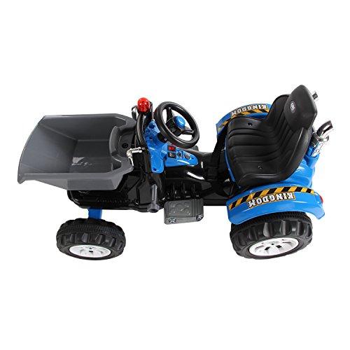 Homcom-Kinder-Kinderfahrzeug-Kindermotorrad-Elektromotorrad-Kinderauto-Elektroauto-Kindertraktor-Elektrotraktor-mit-Schaufel-Kindertraktor2Blau-0-0