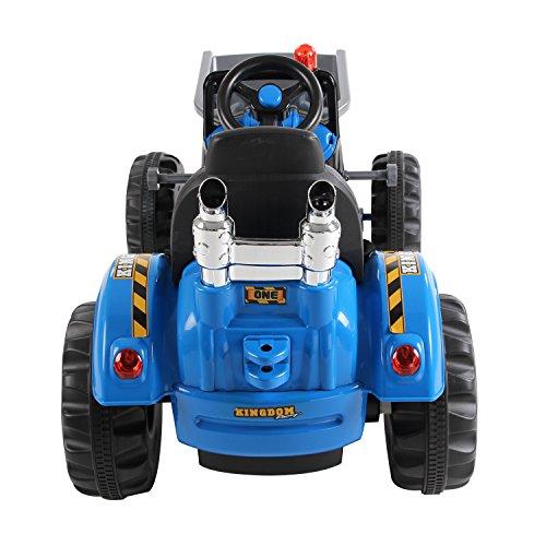 Homcom-Kinder-Kinderfahrzeug-Kindermotorrad-Elektromotorrad-Kinderauto-Elektroauto-Kindertraktor-Elektrotraktor-mit-Schaufel-Kindertraktor2Blau-0-2