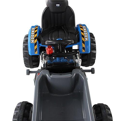 Homcom-Kinder-Kinderfahrzeug-Kindermotorrad-Elektromotorrad-Kinderauto-Elektroauto-Kindertraktor-Elektrotraktor-mit-Schaufel-Kindertraktor2Blau-0-5