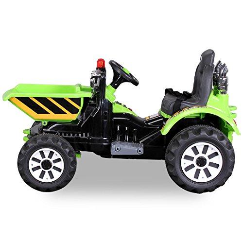 Kinder-Radlader-JS328C-2-x-25-Watt-Motor-Elektro-Lader-Kinderauto-Kinderfahrzeug-grn-0-0