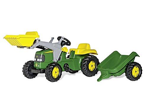 Rolly-Toys-023110-John-Deere-Tret-Traktor-mit-Frontschaufel-und-Anhnger-0