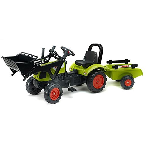 Tret-Traktor-FALK-Claas-Frontlader-Annger-grn-2-5-Jahre-0